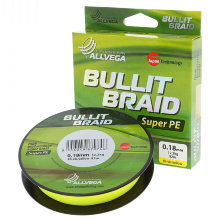Плетеный шнур Allvega Bullit Braid 135M Hi-Vis Yellow