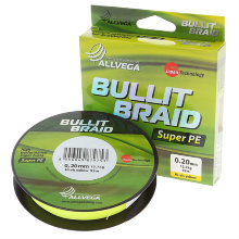 Плетеный шнур Allvega Bullit Braid 92M Hi-Vis Yellow
