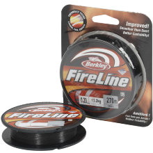 Плетеный шнур Berkley Fireline Exceed Smoke 270m 0,32mm 23,5kg