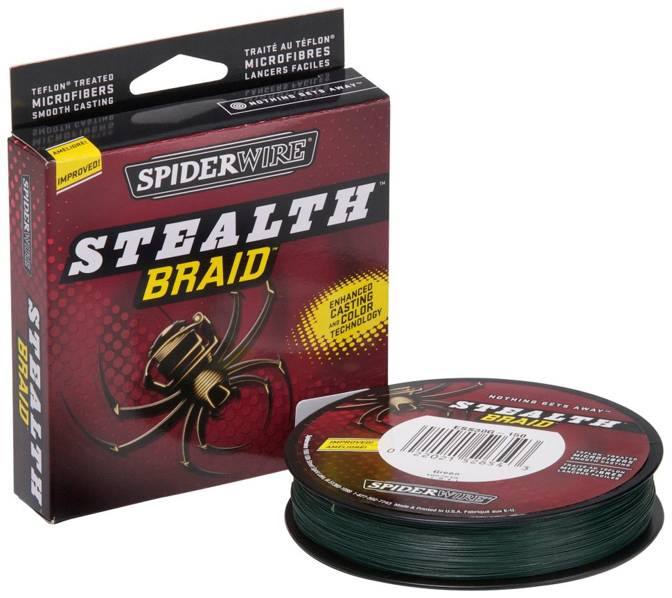 Плетеный шнур Spiderwire Stealth Green 137m